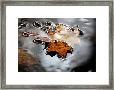 Under Water Fall Framed Print