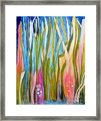 Framed Print featuring the painting Under Water by Sandy McIntire