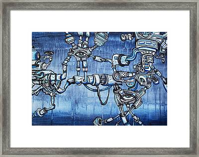 Underground Droids Framed Print by Larry Calabrese