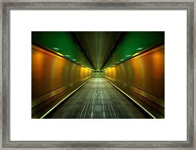 Underground Heathrow Framed Print by Svetlana Sewell
