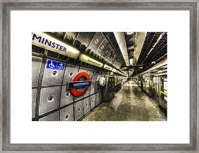 Underground London Art Framed Print by David Pyatt