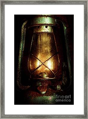 Underground Mining Lamp  Framed Print by Jorgo Photography - Wall Art Gallery
