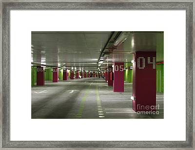 Underground Parking Lot Framed Print by Gaspar Avila