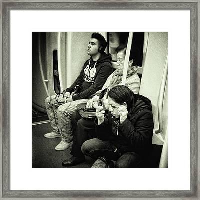 Underground Rimmel #blackandwhite Framed Print