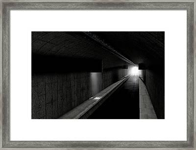 Underground Sewer Framed Print