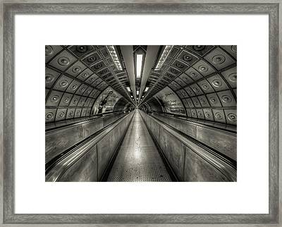 Underground Tunnel Framed Print
