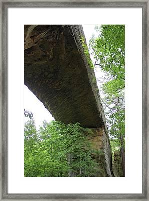 Underneath Natural Bridge In Slade Kentucky Framed Print