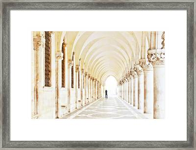 Underneath The Arches Framed Print by Marion Galt