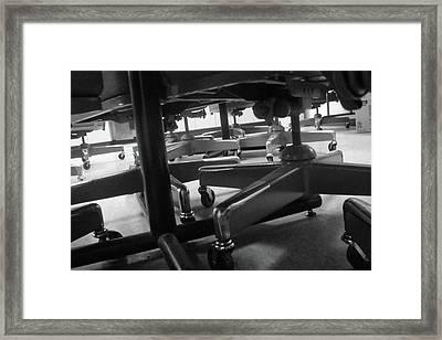 Underneath The Table Framed Print by WaLdEmAr BoRrErO
