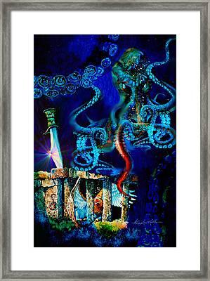 Undersea Fantasy Illustration Framed Print