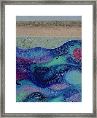 Undersea Movement Framed Print