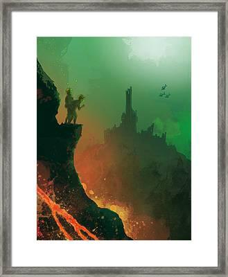 Undersea Volcano Framed Print