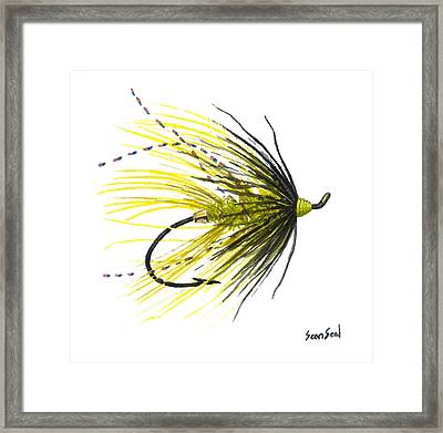 Undertaker Chartreuse Framed Print by Sean Seal