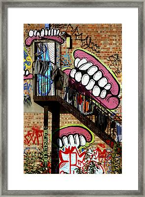 Underteeth The Stairs 2 Framed Print by Jez C Self