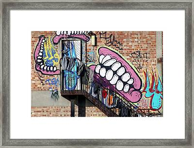 Underteeth The Stairs Framed Print by Jez C Self