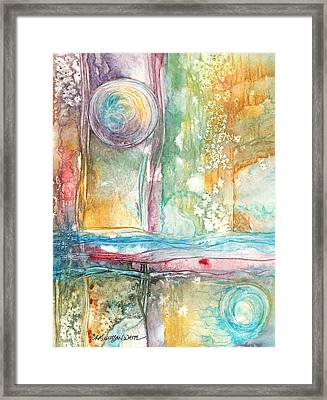 Framed Print featuring the painting Undertow by Casey Rasmussen White