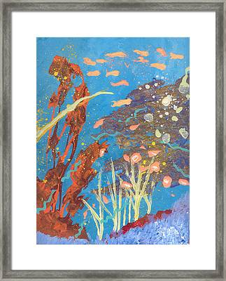 Underwater Abstract No. 2 Framed Print by Helene Henderson