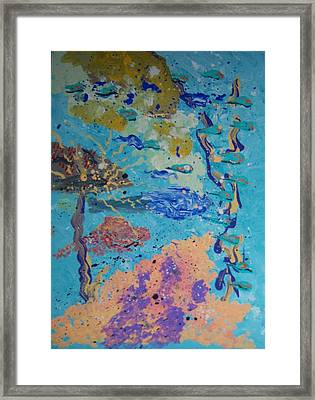Underwater Abstract No. 3 Framed Print by Helene Henderson