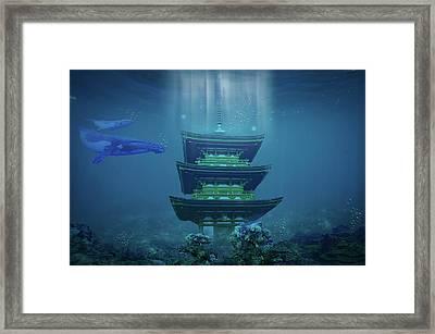Underwater Dojo Framed Print by Mason Born