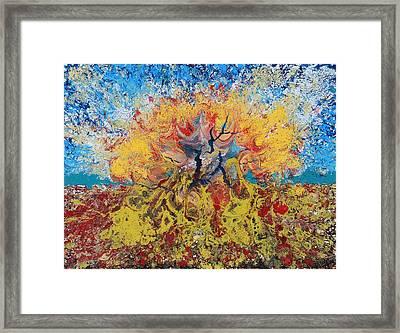 Underwater Explosion Framed Print