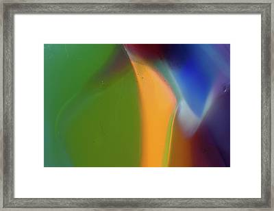 Underwater Fantasies Abstract Glass Photography By Omashte Framed Print by Omaste Witkowski