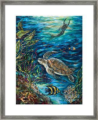 Underwater Friends Framed Print