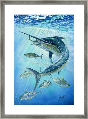 Underwater Hunting Framed Print