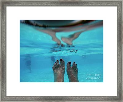 Underwater In Swimming Pool Framed Print by Patricia Hofmeester
