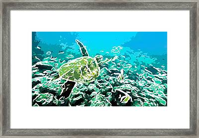 Underwater Landscape 1 Framed Print by Lanjee Chee