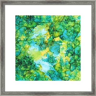 Underwater Map Framed Print