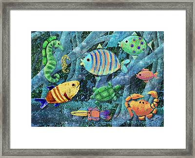 Underwater Maze Framed Print by Arline Wagner
