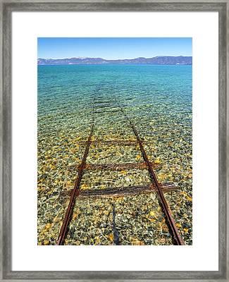 Underwater Railroad Framed Print