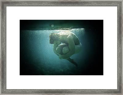 Underwater Rock Framed Print
