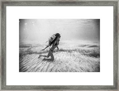 Underwater Sandstorm Framed Print by One ocean One breath