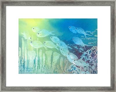 Underwater School Framed Print by Arline Wagner