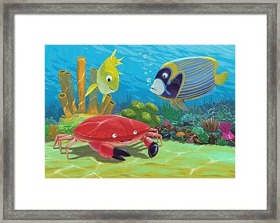 Underwater Sea Friends Framed Print by Martin Davey
