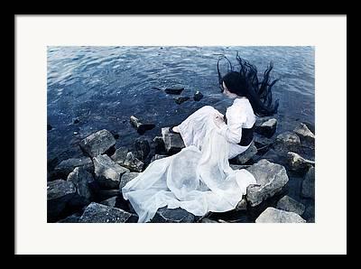 White Dress Photographs Framed Prints