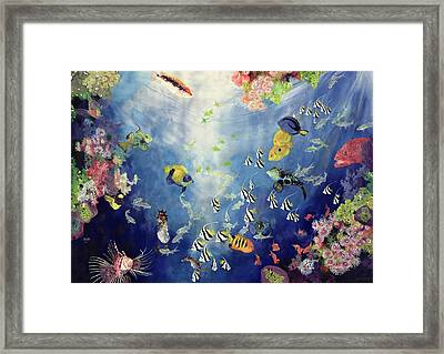 Underwater World II Framed Print by Odile Kidd
