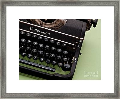Underwood Framed Print by Valerie Morrison