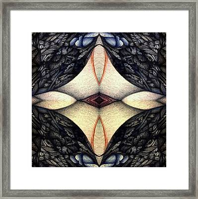 Framed Print featuring the drawing undesignated image XI twentyseven by Jack Dillhunt