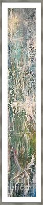 Framed Print featuring the painting Undewater 2 by Diana Bursztein
