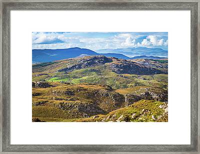 Framed Print featuring the photograph Undulating Landscape In Kerry In Ireland by Semmick Photo