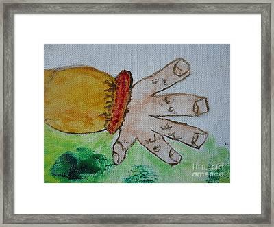 Une Main / A Hand Framed Print