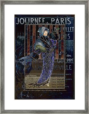 Une Valentine Parisienne Framed Print by Sarah Vernon