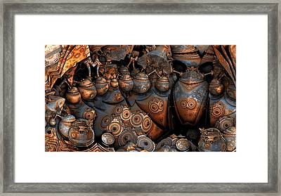 Unearthed Pottery Framed Print
