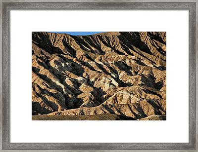 Unearthly World - Death Valley's Badlands Framed Print by Christine Till