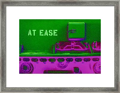 Uneasily At Ease Framed Print