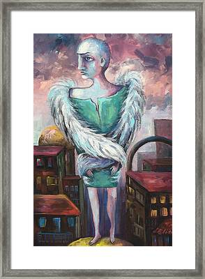Unemployed Angel Framed Print