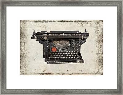 Unerwood Standard Typewriter Framed Print by Daniel Hagerman