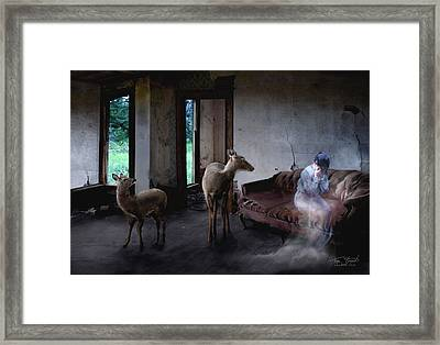 Unexpected Company Framed Print by Tom Straub